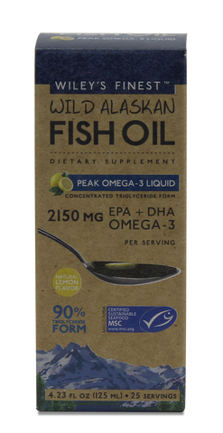 PEAK OMEGA-3 LIQUID FISH OIL (2150MG EPA+DHA PER SERVING) - Health Emporium
