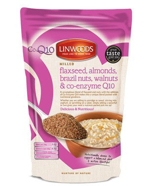 Milled Flaxseed Almonds Brazil Nuts Walnuts & Co-Enzyme Q10 (360g) - Health Emporium