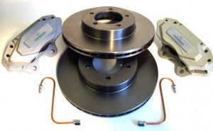 CLASSIC JAGUAR VENTED FRONT BRAKE CONVERSION KIT - BILLET ALLOY E-TYPE S1/E-TYPE S1 1/2/MK2/S-TYPE/DAIMLER V8 250