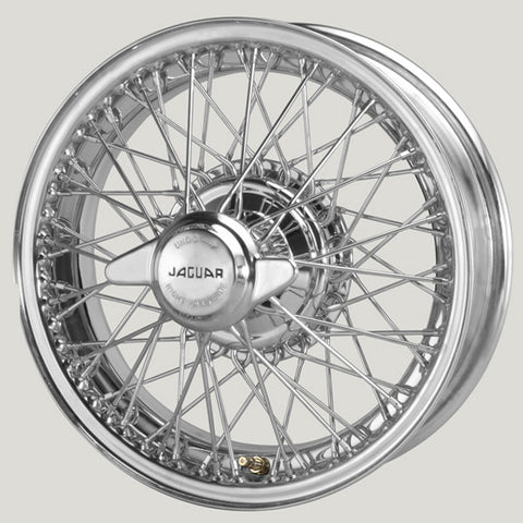 "XW456C/3-TL  CHROME 5"" X 16"" WIRE WHEEL XK120/XK140/XK150"