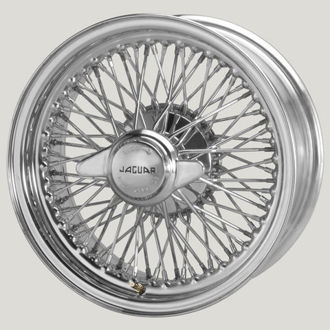 "XW5721C/3-TL CHROME 6.5"" X 15"" WIRE WHEEL E-TYPE S2"