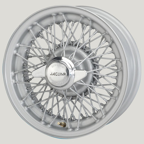 "XW5744S-TL SILVER JAGUAR COMPETITION 5.5"" X 15"" WIRE WHEEL"