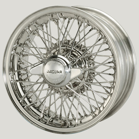"XW5745-ST/S-TL STAINLESS STEEL JAGUAR COMPETITION 6"" X 15"" WIRE WHEEL"