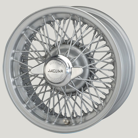 "XW5745S-TL SILVER PAINTED JAGUAR COMPETITION 6"" x 15"" WIRE WHEELS"
