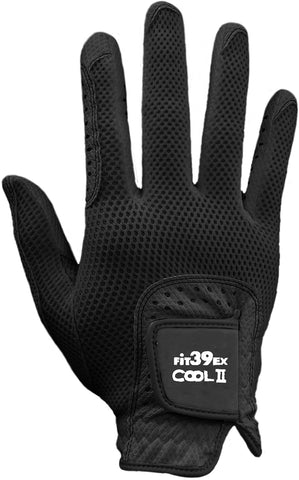 Cool II FIT39 Golf Glove - Black/Black (Right-Hand)