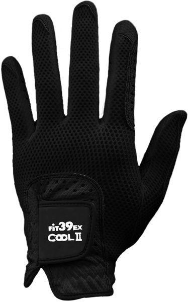 Cool II FIT39 Golf Glove - Black/Black