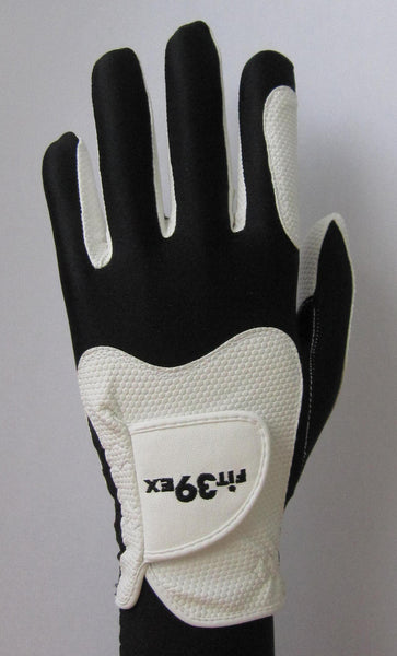 black and white golf glove