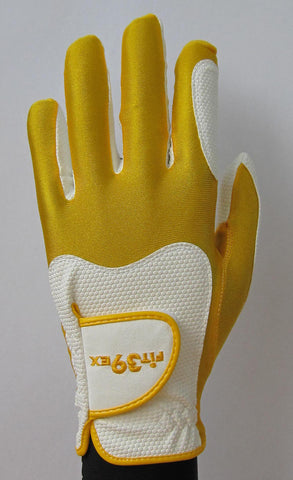 FIT39 Golf Glove - Gold/White
