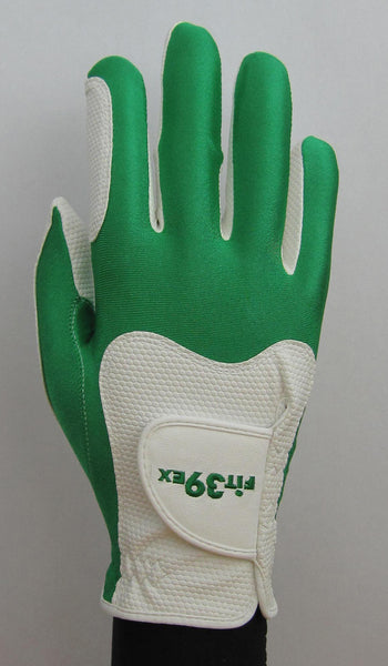 FIT39 Golf Glove - Green/White (Right Handed)