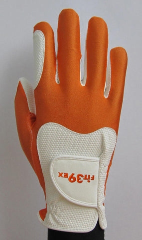 FIT39 Golf Glove - Orange/White (Right-Hand)