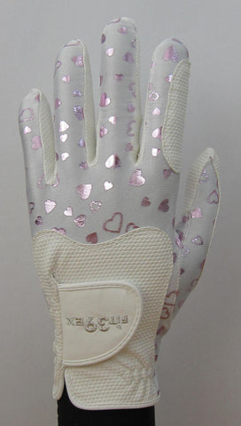 FIT39 Golf Glove - Heart Pink/White