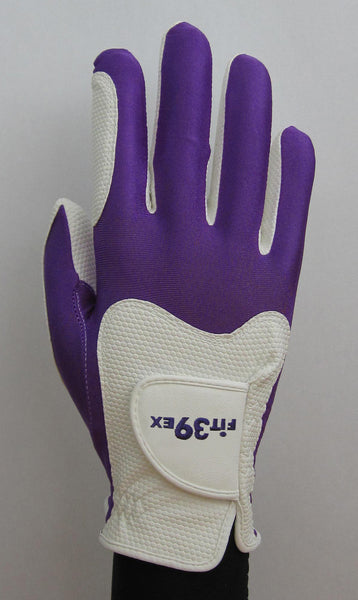 FIT39 Golf Glove - Purple/White