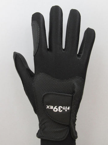 plain black golf glove