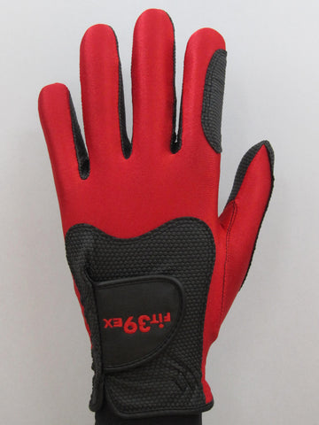 FIT39 Golf Glove - Red/Black