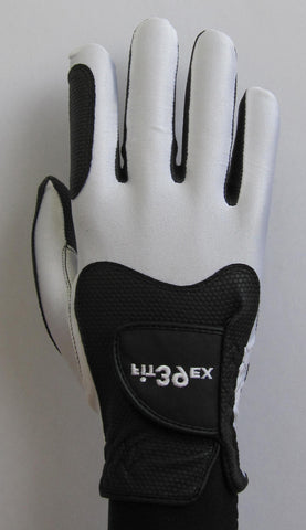 FIT39 Golf Glove - White/Black (Right-Hand)