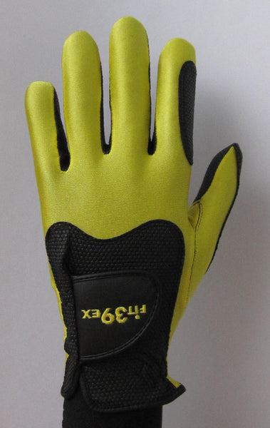 FIT39 Golf Glove - Yellow/Black