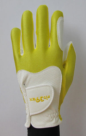 FIT39 Golf Glove - Yellow/White