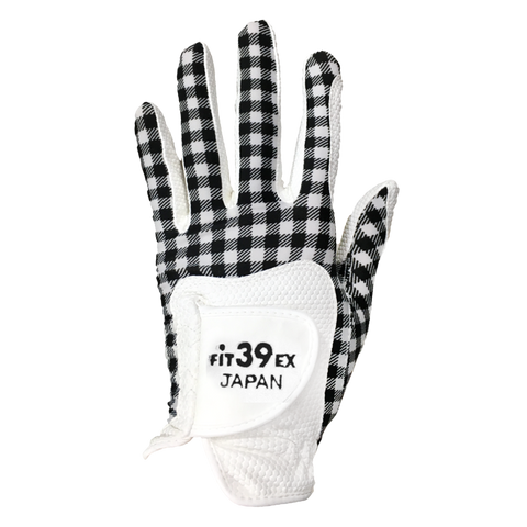 FIT39 Golf Glove - Check Black / White