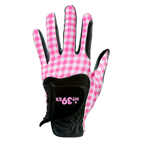 FIT39 Golf Glove - Check Pink/Black