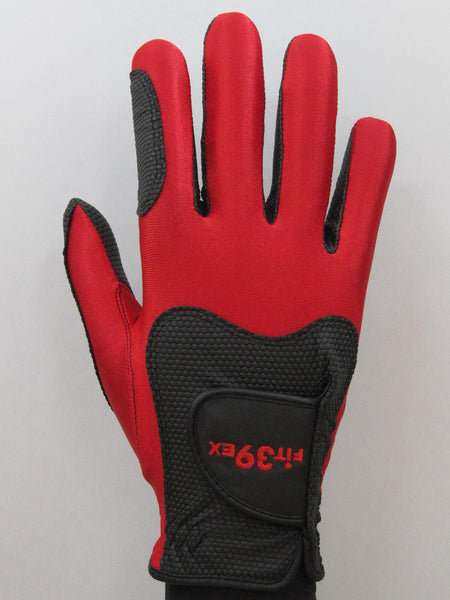 FIT39 Golf Glove - Red/Black (Right-Hand)
