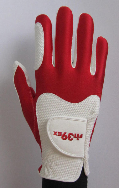 FIT39 Golf Glove - Red/White (Right-Hand)