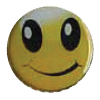 happy face ball marker