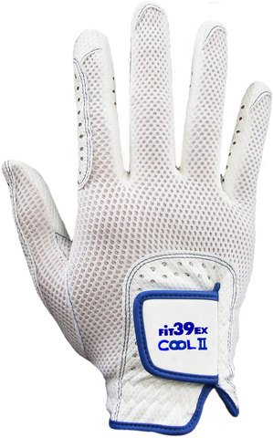 Cool II FIT39 Golf Glove - White/White (Right-Hand)