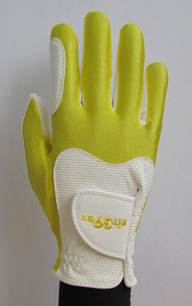 Fit39 Golf Glove Yellow White Right Hand Distinctive