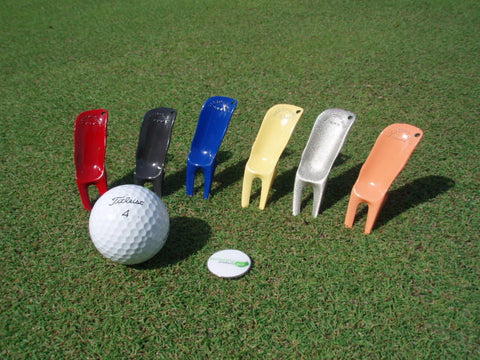 Zinc pitch golf divot tools
