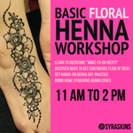 Basic Floral Henna Workshop - 2 NOV 2019 - SyraSkins