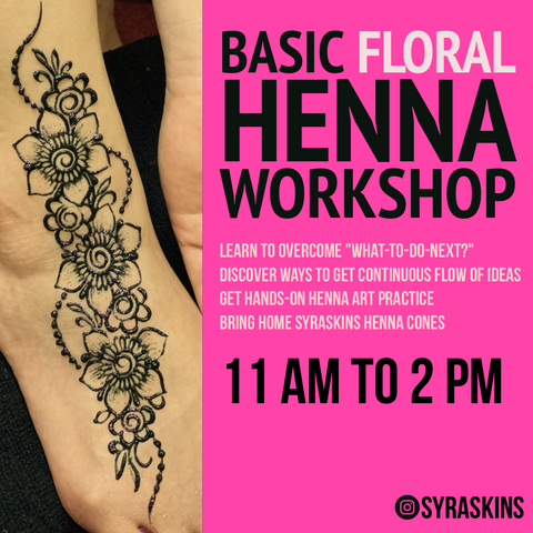 Basic Floral Henna Workshop - 2 NOV 2019