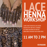 Bridal Lace Henna Workshop - 3 August 2019