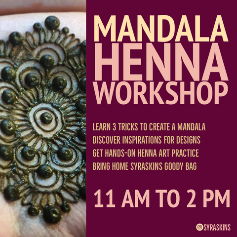 Mandala Henna Workshop - 6 July 2019