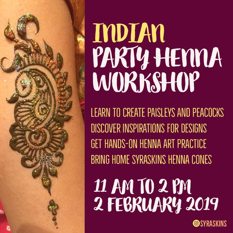 Indian Party Henna Workshop - 2 February 2019