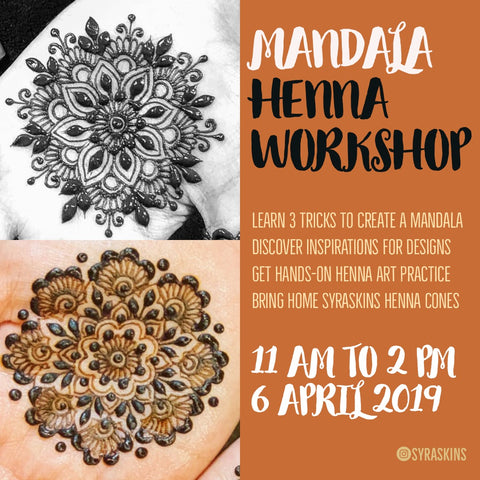Mandala Henna Workshop - 6 April 2019