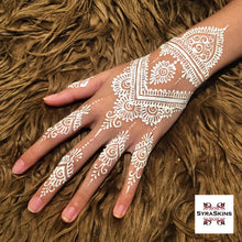 Load image into Gallery viewer, 1 Waterproof White Henna Cone - SyraSkins
