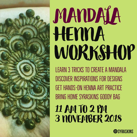 Mandala Henna Workshop - 3 November 2018