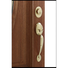 Load image into Gallery viewer, Schlage Plymouth Solid Forged Brass Single-Lock Keyed Entry Door Handleset