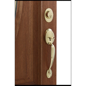 Schlage Plymouth Solid Forged Brass Single-Lock Keyed Entry Door Handleset