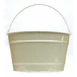 16 qt. Beige Decorative Pail