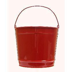 Pails 10-Qt RED Decorative