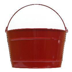 Pails 16-Qt RED Decorative