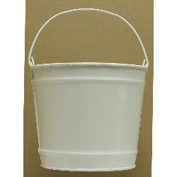 Pails 10-Qt white Decorative