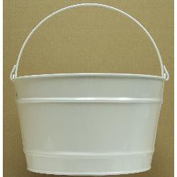 16 qt. White Decorative Pail