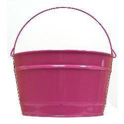 Pails 16-Qt Pink Rad. Decorati