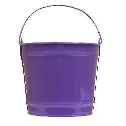 Pails 10-Qt Purple Decorative
