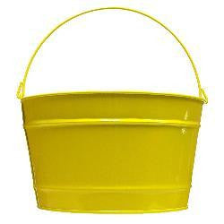 16 qt. Yellow Decorative Pail