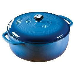 Dutch Oven 6 Qt Blue Enamel