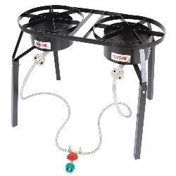Cookers Dbl Burner Gas W/Ext L