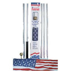 Aluminum Flag and Pole Set